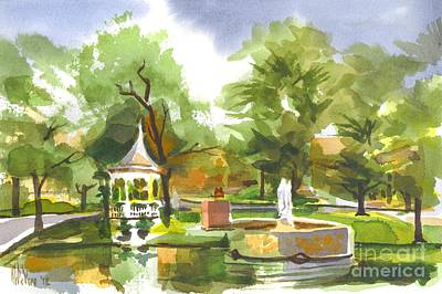 Villa Painting - Ste. Marie Du Lac In Watercolor by Kip DeVore