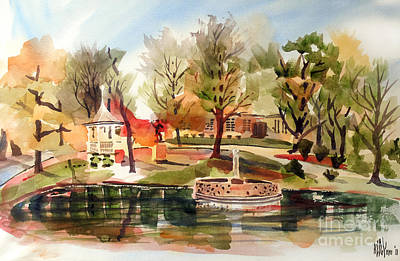 Ste. Marie Du Lac With Gazebo And Pond I Original by Kip DeVore