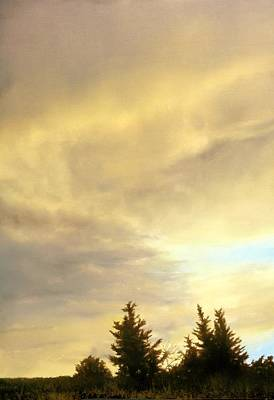 Painting - Ste Valiere Morning Sky by Thomas Darnell