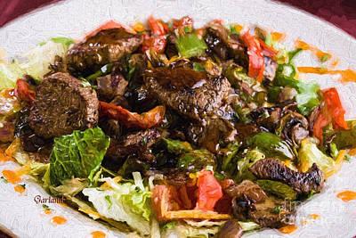 Lettuce Mixed Media - Steak Salad by Garland Johnson