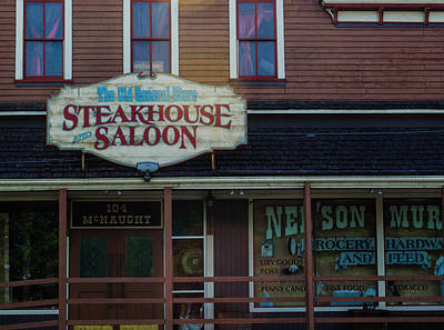 Photograph - Steakhouse And Saloon by Tikvah's Hope