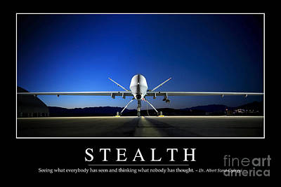Photograph - Stealth Inspirational Quote by Stocktrek Images