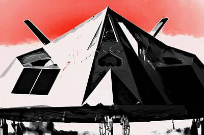 Airforce Mixed Media - Stealth War Machine by Daniel Hagerman