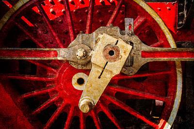 Steam And Iron - Driving Wheel Art Print