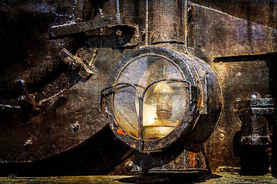 Oil Lamp Photograph - Steam And Iron - Headlight by Alexander Senin