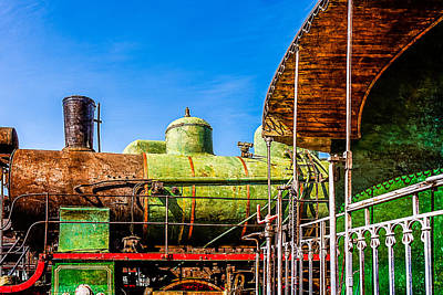 Driving Machine Photograph - Steam And Iron - Last Station by Alexander Senin