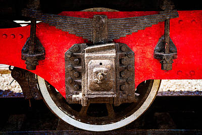 Colorful Art Journal Photograph - Steam And Iron - Trailing Truck by Alexander Senin