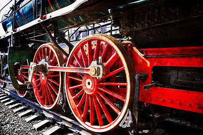 Drive Train Photograph - Steam And Iron - Wheels Of Steel by Alexander Senin