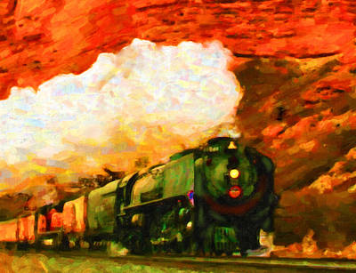 Black Commerce Digital Art - Steam And Sandstone by Chuck Mountain
