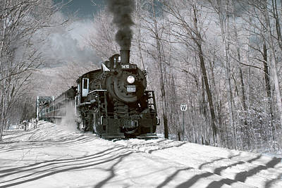 Steam And Snow Art Print