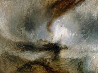 Snow Storm Painting - Steam-boat Off A Harbour's Mouth by JMW Turner