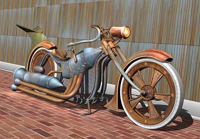 Rivets Digital Art - Steam Chopper by Stuart Swartz
