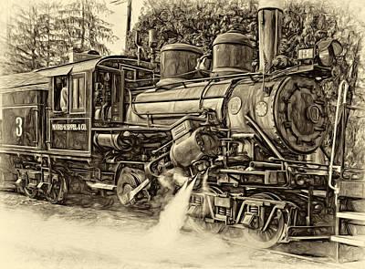 Steam Climax - Paint Sepia Art Print by Steve Harrington