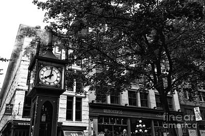 Photograph - Steam Clock Blowing by John Rizzuto