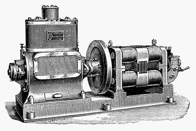 Painting - Steam-driven Dynamo by Granger