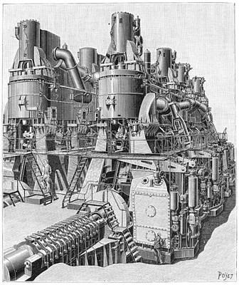 Basilicata Photograph - Steam Engine, 1893 by Granger