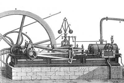 Steam Turbine Wall Art - Photograph - Steam Engine, 19th Century by Science Source