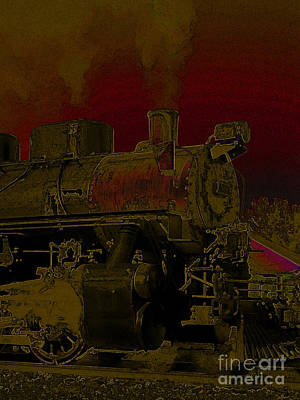 Digital Art - Steam Engine 2024 by Stuart Turnbull