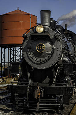 Steam Engine #475 Pulling Into The Strasburg Rr Station  01 Art Print by Mark Serfass