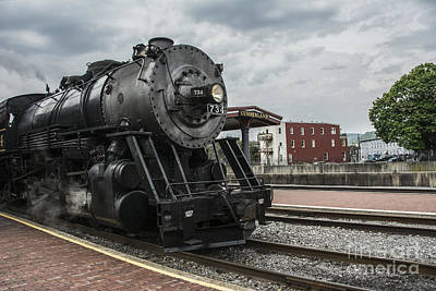 Photograph - Steam Engine #734 by Terry Rowe