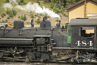 Photograph - Steam Engine At Cumbres Pass by Tim Mulina