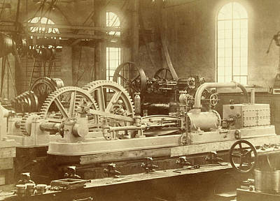 Steam Engine, Built By The Royal Factory Of Steam And Other Print by Artokoloro