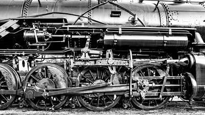 Train Depot Photograph - Steam Engine Drive Train by Geoff Mckay