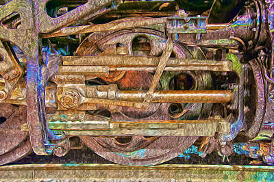 Photograph - Steam Engine Linkage 2 by Richard J Cassato