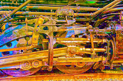 Photograph - Steam Engine Linkage 3 by Richard J Cassato