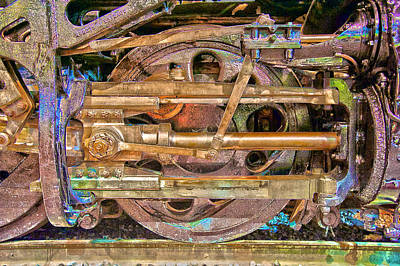 Photograph - Steam Engine Linkage by Richard J Cassato