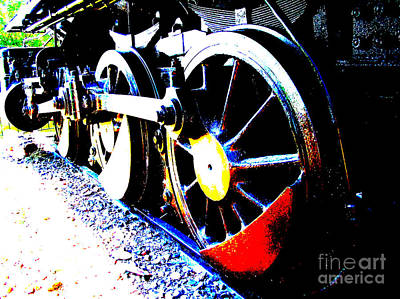 Photograph - Steam Engine Main Drive Wheel Poster by R Muirhead Art