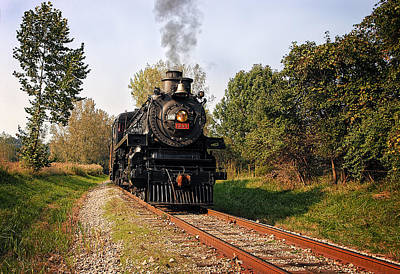 Hot Photograph - Steam Engine by Marcia Colelli