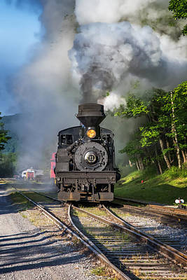 Photograph - Steam Engine Rolling Smoke by Mary Almond