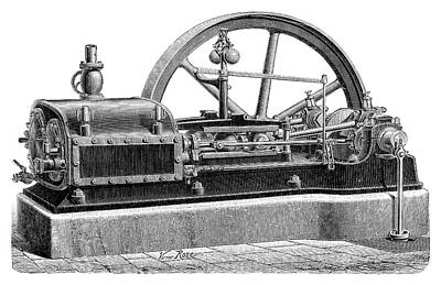 1860s Photograph - Steam Engine by Science Photo Library