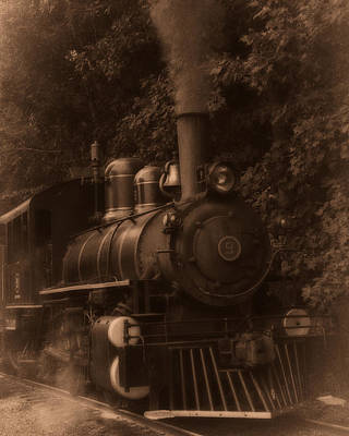 Photograph - Steam Engine Train Sepia by Chris Flees