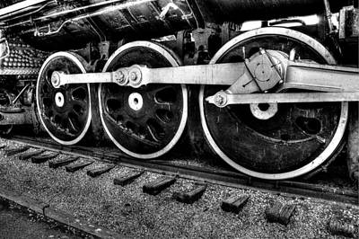 Steam Engine Wheels Art Print by Honour Hall