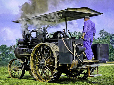 Keck Photograph - Steam Engineer And Traction Engine by F Leblanc