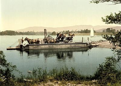 Horse And Cart Photograph - Steam Ferry, Lake Windermere, Uk by Science Photo Library