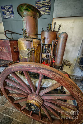 Victorian Digital Art - Steam Fire Engine by Adrian Evans