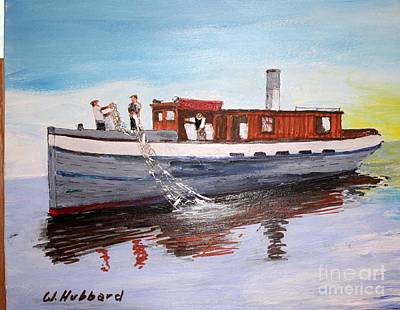 Painting - Steam Fishing Tug John Smith by Bill Hubbard