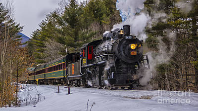 Steam In The Snow 2015 Art Print