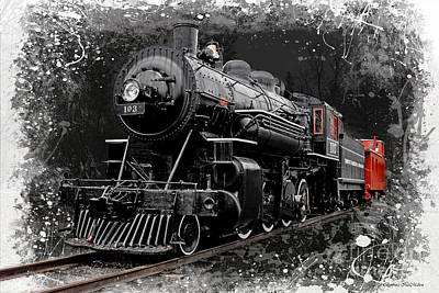 Photograph - Steam Locomotive 103 by Barbara McMahon