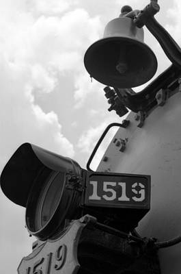 Photograph - Steam Locomotive 1519 - Bw 04 by Pamela Critchlow