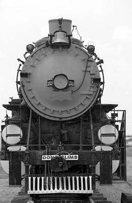 Photograph - Steam Locomotive 1519 - Bw 08 by Pamela Critchlow