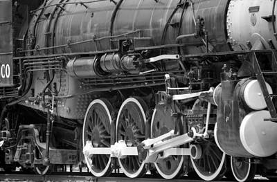 Photograph - Steam Locomotive 1519 - Bw 11 by Pamela Critchlow