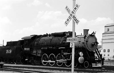 Photograph - Steam Locomotive 1519 - Bw 14 by Pamela Critchlow