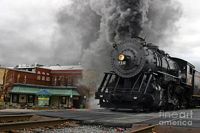 Photograph - Steam Locomotive 734  by Jeannette Hunt