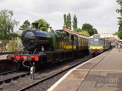Wark Photograph - Steam Locomotive At Toddington by Louise Heusinkveld