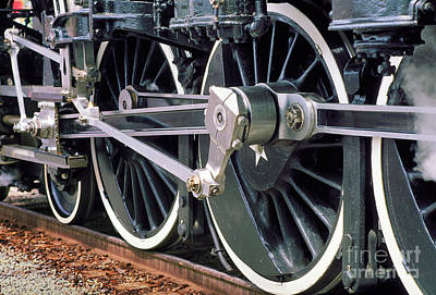 Steam Locomotive Coupling Rod And Driver Wheels Print by Wernher Krutein