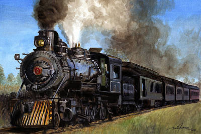 Steam Locomotive Art Print by Dale Jackson